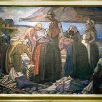Kristin Jonsdottirin maalaus sillinperkaajista toi mieleen Laxnessin Salka Valkan